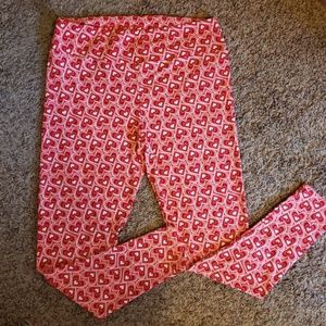 $10 Alone/2 for $16 LuLaRoe T&C Heart Leggings